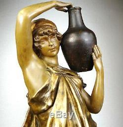 1900 Goldscheider Sculpture Statue Art Nouveau Deco Terracotta Female Oriental