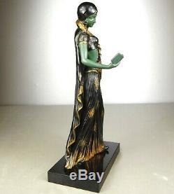 1920/1930 G Van De Voorde Rare Beautiful Statue Sculpture Ep Art Deco Woman Elegant