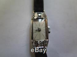1930 Art Deco Women's Diamond Platinum Wristwatch