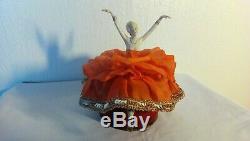 A Powder Box Dancer Tete Female Legs And Porcelain Art Deco