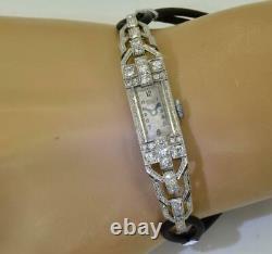 Amazing Ancient Art-deco Platinum & Diamonds Bella, Geneva Women Bracelet C1920