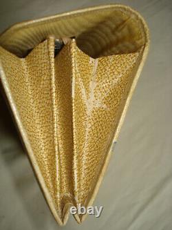 Ancient Art Deco Stock Exchange Japan 3 Ancient Monkeys Flapper Clutch Purse Bag