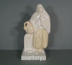 Ancient Ceramic Orientalist Woman Moorish Woman Water Carrier Signee Roty