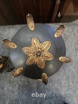Ancient Empire Bronze Chandelier With 2 Patinas And 6 Branches Heads Of Women