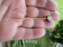 Ancient Tie Pin/or Hat Massif 18k-woman Art-deco-solid Gold
