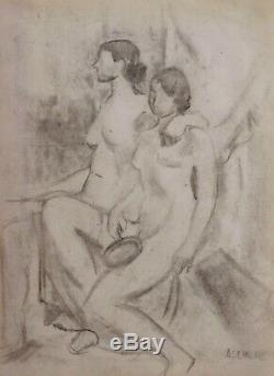 André Lhote Cubist Painting Drawing Female Nude Model Studio Art Deco Cubism Naked