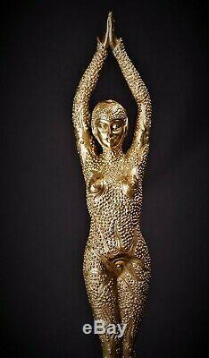 Art Deco Bronze Dancer Female Figure Starfish Starfish Gold