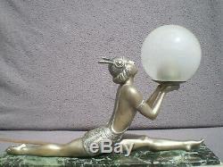 Art Deco Lamp 1930 Woman Russian Dancer Vintage Sculpture Lamp Woman Dancer 30s