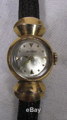 Art Deco Paul Buhre Ladies Watch In Solid Gold Poincon Head Of Eagle Pavel Bure