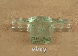 Art Deco Pendant In Moled Glass Patinated Two Women Signed Rene Lalique