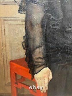 Art Deco Portrait Paul Maurice Maillard (1888-1975) Woman In Black, 1932