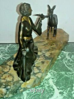 Art Deco Regulates On Marble. Wife. Bird. Doe