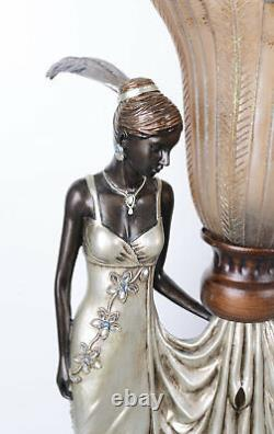 Art Deco Table Lamp Female Fatal Office Lamp Gatsby Retro Luminaire New