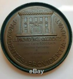 Art Deco Woman Medal Pierre Turin Insurance Providence French Art Medal