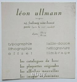 Art Deco Women Book Pochoir Gravure Leon Ullmann Imagier Xx°