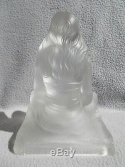 Art Glass Sculpture Deco Idol Sabino Woman Bare Lamp Nightlight Statuette