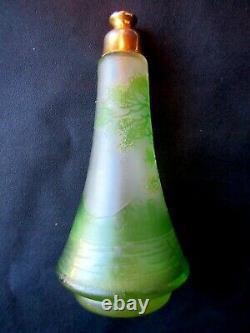 Art Nouveau Atomizer Perfume Bottle, Art Deco, Acid-free Glass Paste