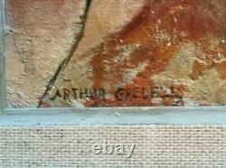 Arthur Greuell, Tableau Les Trois Femmes (hst), Signed. Art Deco(following: Lempicka)