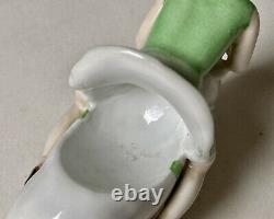 Baguier Porcelain Polychrome Art Deco Woman Riding A Pig Erotic