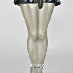 Balleste, Parrot Woman, Signed Sculpture, Art Deco, 20th Century