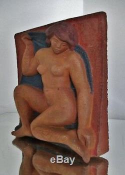 Basterre Terracotta Statue Sculpture Art Deco Modernist Female Artist To Identify