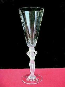 Bayel Venus Woman Fluted Glasses Flute Champagne Erotic Woman Crystal Art Deco