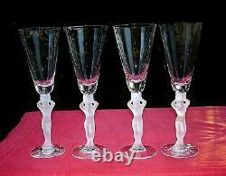 Bayel Venus Woman Fluted Glasses Flute Champagne Women's Erotic Crystal Art Deco