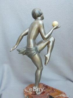 Beautiful Art Deco Sculpture Statue Woman Dancer Ballesté 1930 Statuette Regulates