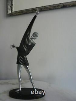 Beautiful Statue Sculpture Woman Art Deco Russian