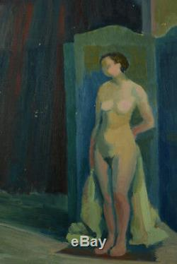 Beautiful Table Deco Woman Naked Art In Screen Workshop Rolland Rotges1930