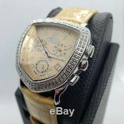 Beige. 75 Carat Fine Jewelry Diamond Watches Genuine Genuine Diamonds. Swiss
