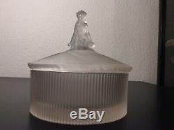 Box Powder Draped Woman Molded Glass Perfume Dubarry Julien Viard Art Deco