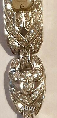 Bracelet Watch Art Deco 1920-1930 Platinum And Diamonds