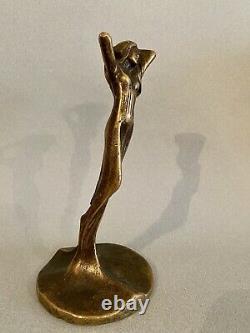 Bronze Sculpture Woman Art Nouveau Deco Judgendstil 1900 Signed To Identify