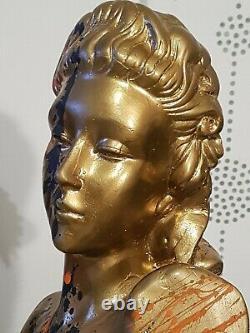Buste Ravi Woman Platre Desing Art Deco Magasin Pin Up Erotic No Marianne