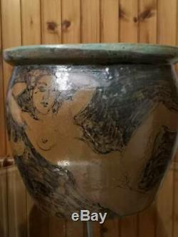 Cache Terracotta Pot Glazed Stoneware Erotic Naked Woman 1925 1930 Art Deco