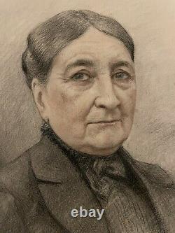 Charles Liozu Portrait Drawing Painting Woman Tarn Albi Art Deco Moderne 19th