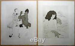 Charles Martin Loads 15 Engravings Erotic Art Deco Nude Woman, Couple