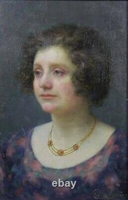 Charles Morancé (1872-1935) Portrait Of A Woman Boulogne-sur-seine Sarthe Museum