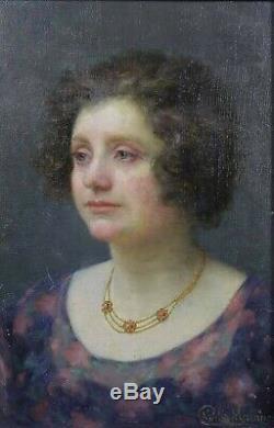 Charles Morancé (1872-1935) Portrait Of Woman Boulogne-sur-seine Museum Sarthe