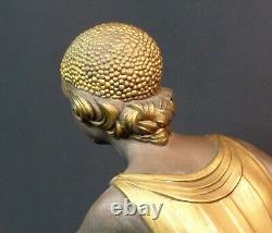 D 1925 Statue Sculpture Art Deco Chiparus Woman With Goats 76cm Superb Marble