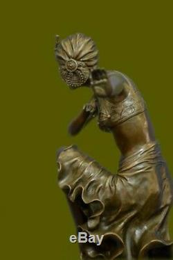 Dh Chiparus Art Deco Bronze Sculpture Figurine Woman In Dress Hot Deal Fonte