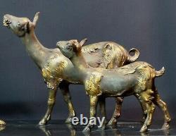 E 1925 Statue Art Deco Sculpture Chiparus Goats 76cm Superb Marble
