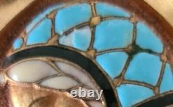 Enamelled Brooch Signed E. Bouillot Femme Art Nouveau / Art Deco Jewellery Ancient