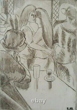Engraving Ludovic-rodo Pissarro Ball Dance Gay Lesbian Women Xxéme