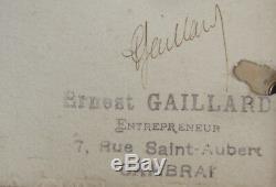 Ernest Gaillard Album Watercolor Drawings Cambrai Museum Great War 14-18 Woman