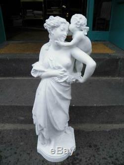 Eugene Carrier Belleuse Ancient Statue Of Woman Allegory Xixth Model Signed