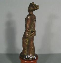 Female Captive Automotive Mascot Old Art Deco Bronze J. Garnier