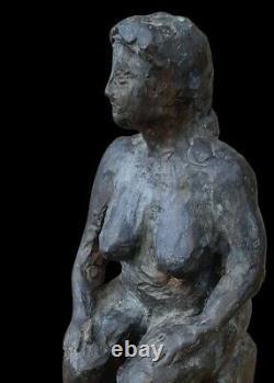 Female Nude Sculpture By Gérard Coze Terracotta Pau Nude Lady Naked Woman XX