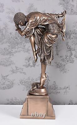 Female Sculpture 20er Ans Style Oriental Dancer Chiparus Figure Veronese